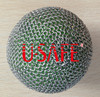 100% stainless steel ring mesh safety chain mail metal ball covers