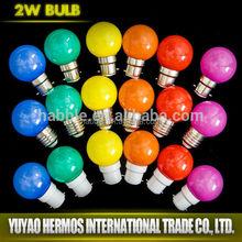 1W changing color lamp high quality Energy Saving led Lighting Bulb