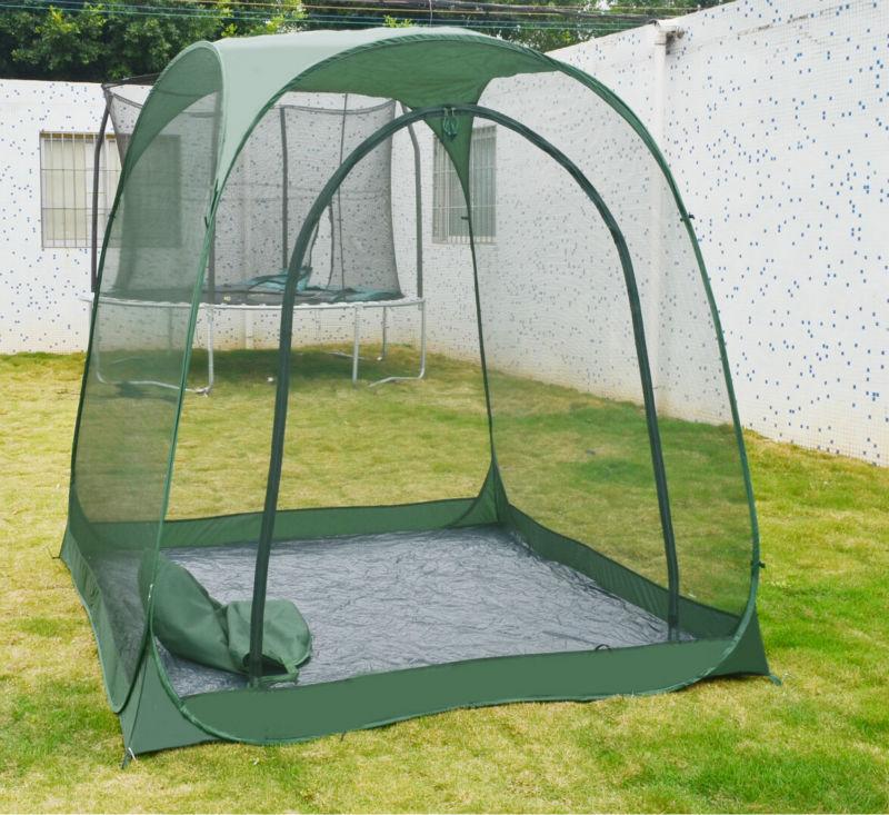 Steel frame outdoor six edge leisure tents garden pop up for Garden tents
