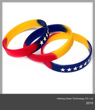 high quality colorful silicone wristband/swirl color/mix color