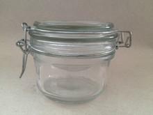 wholesale glass jar for spice , honey glass jar and jam glass jar , 125ml clip glass jar