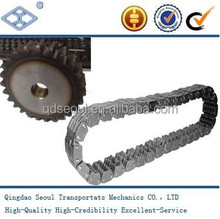 GB ANSI C4-150 pitch 12.7 flank contact silent chain for driving equipment