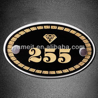 2013Wholesale Customized High Grade Numbers With Screws