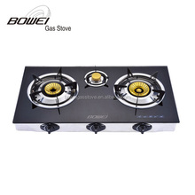 Top Quality Ceramic Cooktop Table Cooking Cooker 3 Burner Glass Gas Stove