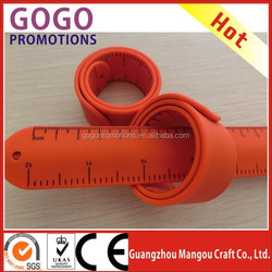 custom silicone slap band with silk-screen printing logo, High performance high quality slap bands with factory price