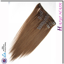 Factory Wholesale 28 Inch Clip On Human Hair Extensions