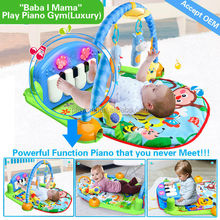2015 New item education toy funny baby play carpet with music small animal piano baby carpet Wholesale factory price HX9105