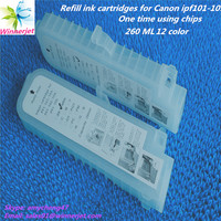 Alibaba express Printing ink cartridge for canon ipf 5000 refillable ink cartridge
