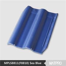 KERALA CERAMIC FIBER CEMENT BITUMEN BLUE GLAZED CURVED ROOF TILE