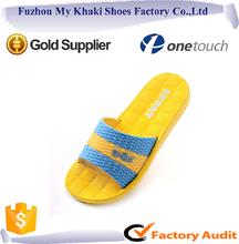 Laser design comfort EVA and PVC sole flat slipper for women room sandal in china