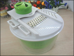 salad slicer chopper maker multifunction plastic fruit / vegetable salad spinner with container factory wholesale
