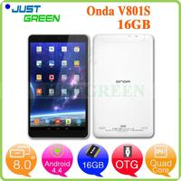 Original Onda V801S 8 inch 512MB 16GB Android 4.4 White Wifi Version tablet android 4.0 mid v708 for wholesales