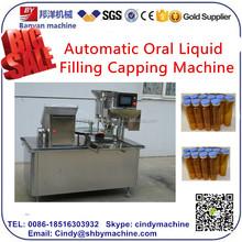 YB-300TJ medicine liquid /oral liquid/syrup glass plastic filling capping machine