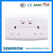 Home appliance PC material wall switch socket,ODM&ODM switch socket,wall electrical 6 pin toggle switch