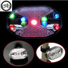 Bicycle electric safety warning taillight 9 colorful led flash