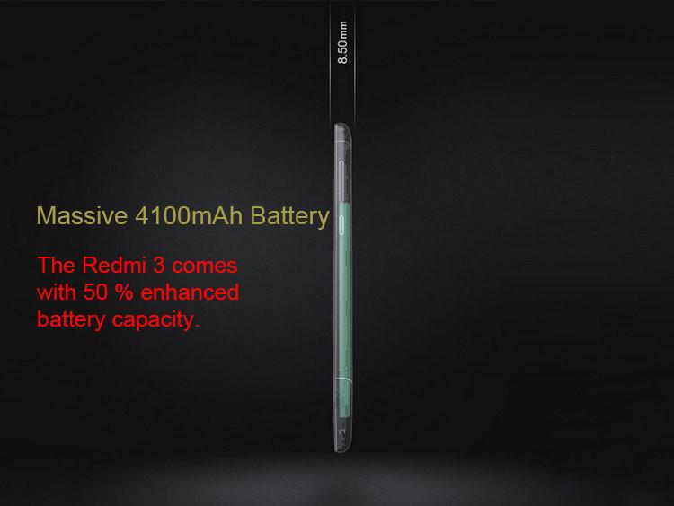 2016 New Xiaomi Phone Xiaomi Redmi 3 ( Hongmi 3 ) Qualcomm Snapdragon 616 Octa Core 1.5GHz Android 5.1 Metal Smart Phone