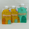 Squeeze refillable baby food pouch /Reusable spout pouch food plastic packaging