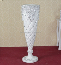 make in china silver Tall Plastic wedding vases