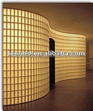 190*190*80mm Glass block wall/ Hollow brick wall decoration