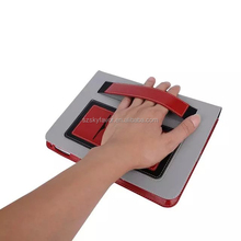 Factory directly sale leather case assorted colors hand holding stand case for iPad mini