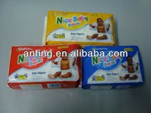 Nice baby diaper,soft,disposable and breathable(PE FILM/PP TAPE)