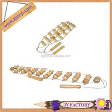 2014 hot selling cheap handheld wood beads back massager