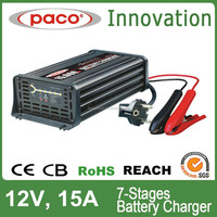 Battery charger desulfator 12V 15A 7 stage automatic charger with CE,CB,RoHS certificate