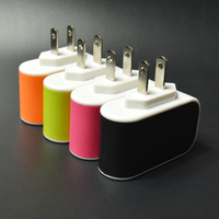 CE ROHS FCC approved 3 port USB travel wall charger