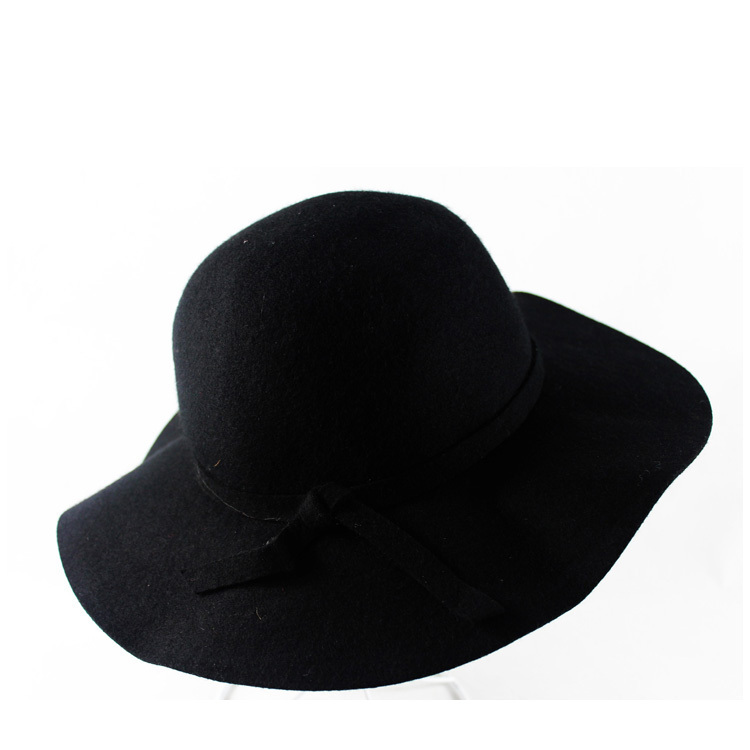 fashion hat cap floppy wide brim wool felt