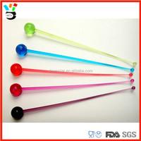 vintage hand blown glass swizzle sticks, Customized Glass Stir Sticks for drinks