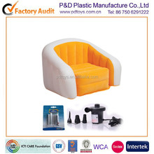 BSCI ICTI PVC TPU air inflatable kings chair antique