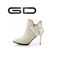 2015 Moden special design point toe high heel ankle boots