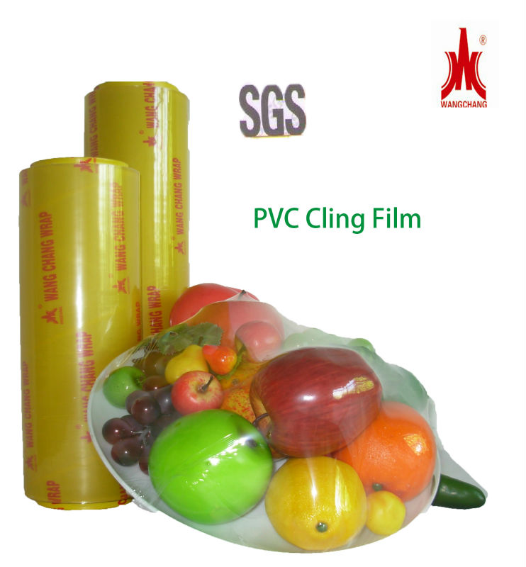 wangjiang produced Transparent Transparency and Stretch Film Type Cling Film