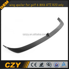 carbon fiber wing spoiler for golf 6 MK6 GTI R20 only