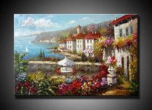 Musuem Quality Ocean Paintings, Mediterranean Sea Hand Painting Wall Art