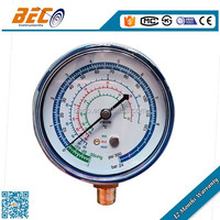 refrigerated manifold pressure gauge with steel case and argon oil filled r410a