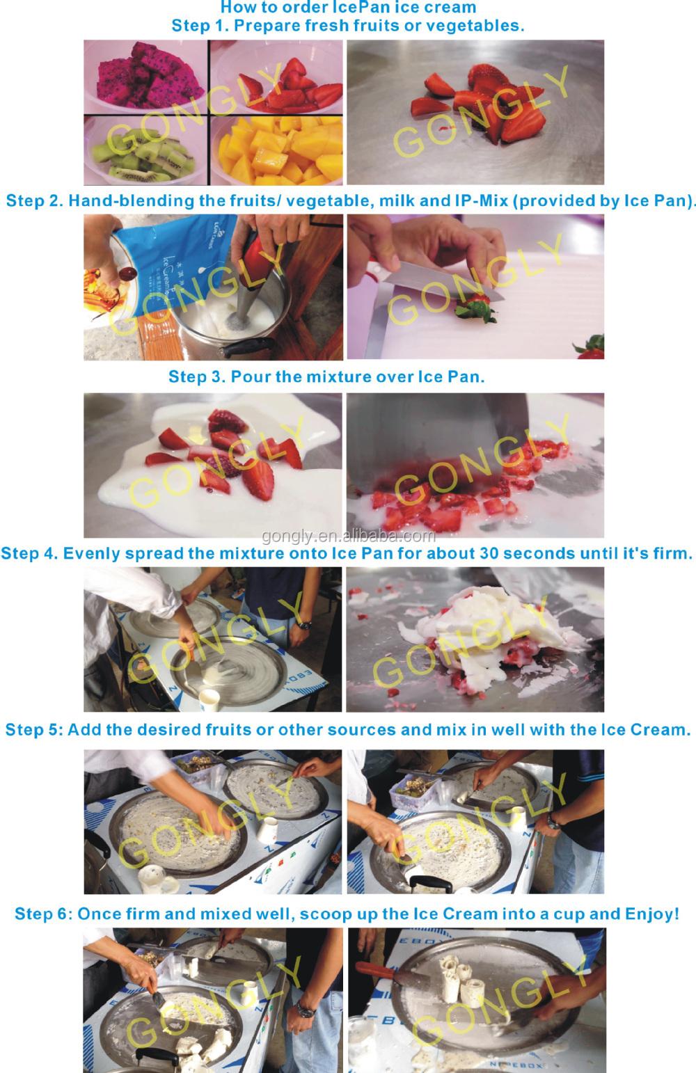 새로운 스타일의 2015-30 C 학위 튀김 아이스크림 기계
