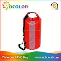 High Quality Durable 500D PVC Waterproof Ocean Pack Dry Bag With Shoulder Straps for Outdoor Camping