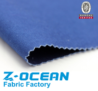 indigo color cotton elastic shirt fabric
