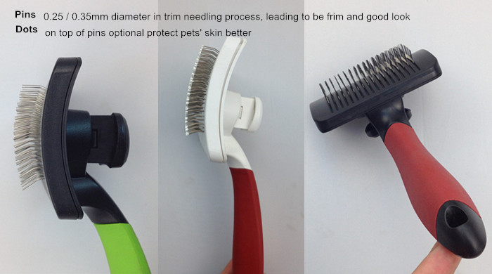 Eco-friendly Manufacture Plastic Dog Grooming Automatic Cleaning Brush for Pet Hair Remover
