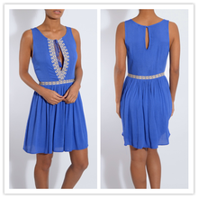 Dongguan Garment Factory Embroidered Tie Front Pleated Shiring Strapless Sexy Mature Elegant Mini Dress NT6152