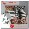 China supply animal printed suede fabric for sofa and pillow