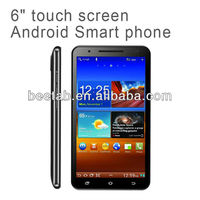 6 inch mobile phone with MTK6577 CPU and Android 4.0 OS