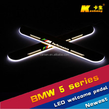 Auto Accessories welcome LED Door pedal sill plate light/stainless scuff plate/Car Specific LED Door sill for BMW 5 series