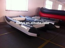 Liya 3m-4.3m de pvc de alta velocidad del barco catamarán barco inflable