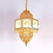 Moroccan Small Metal Gold Lantern LT-046