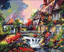 famous Cheap oil paintings of flowers,diy oil painting by numbers