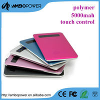 touch control power bank mobiles/smart power bank 5000mah