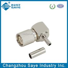 rf crimp type 1.6/5.6 right angle plugs connector