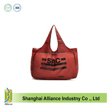 OEM 190T Polyester Folding Bag,Women Supermarket Durable And Washable Shopping Bag FH029